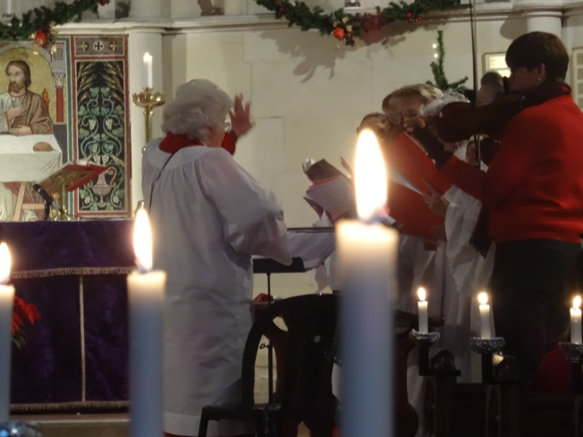 A Christmas service (2015) at Christ Church, the church that serves the English-speaking community in Naples, Italy