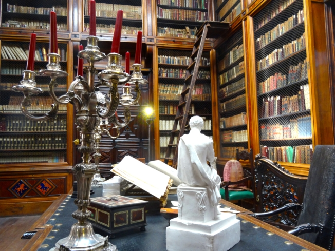 The library in the Museo Filangieri in Naples, Italy