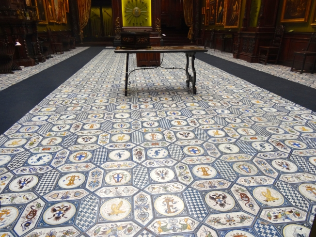 The floor of the Agata Hall in the Museo Filangieri