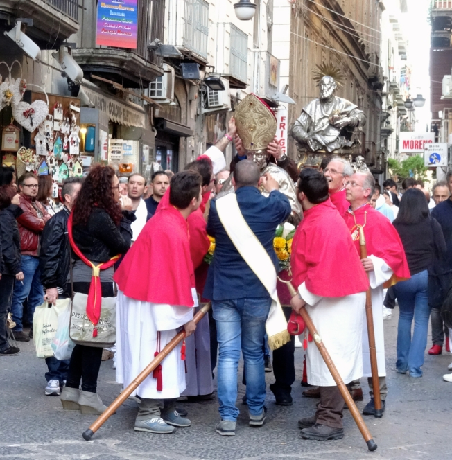 Setting the martyr straight - Naples, Italy