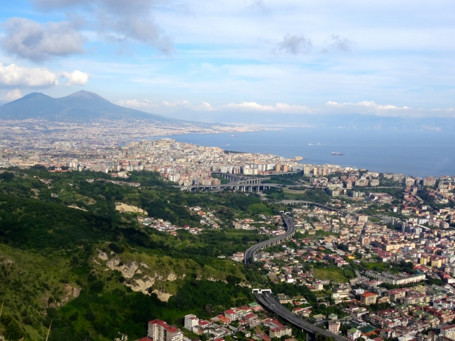 View over Naples, Italy