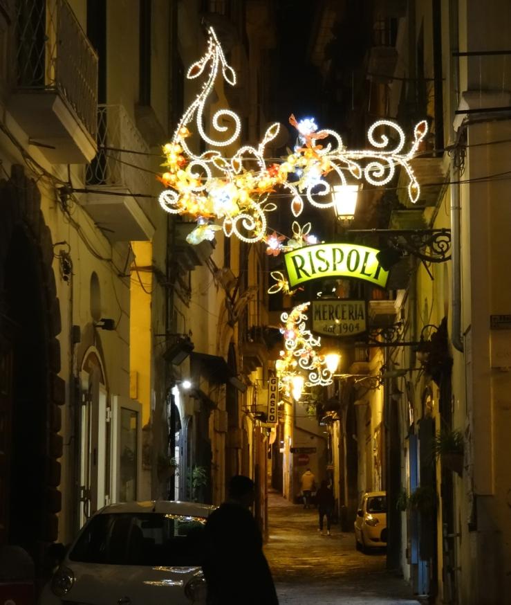 Christmas lights in Salerno