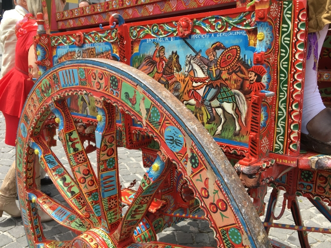 Detail on a carriage from Sicily