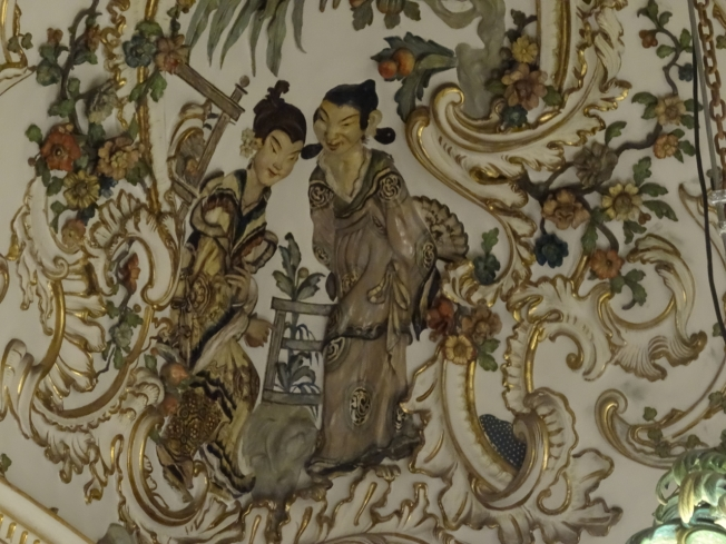 Detail from the Porcelain Room at Capodimonte in Naples, Italy