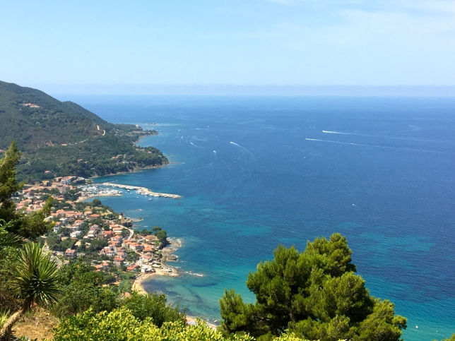 The coastline below Castellabate in Cilento in the south of Italy