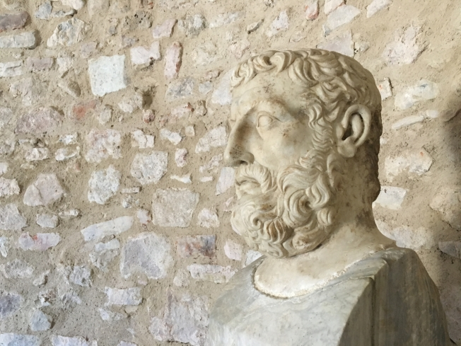 Parmenides (c 515 - 450 BC) founder of the Eleatic School of ancient Greek philosophy