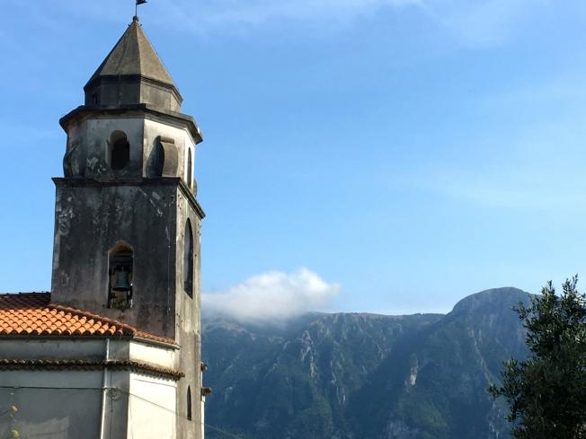 The church in Roccagloriosa in Cilento, Italy