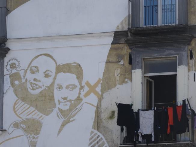 Mural in rione Sanità in Naples, Italy