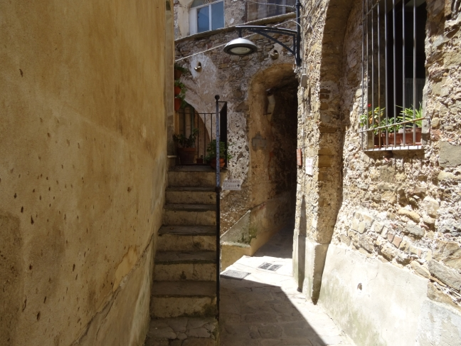 Street in Castellabate in Cilento in Italy