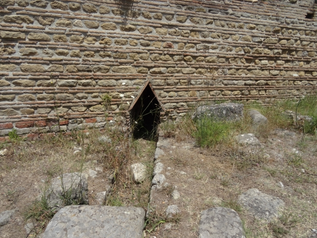 Detail from the archaeological site at Velia in Cilento, in the south of Italy