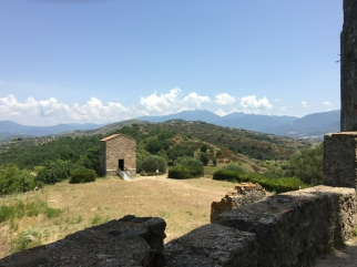 The views from the top of the ridge at Velia in Cilento, Italy