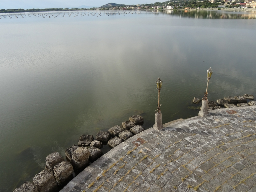 Lago Fusaro, once famous for its oysters, circles the Casina Vanvitelliano