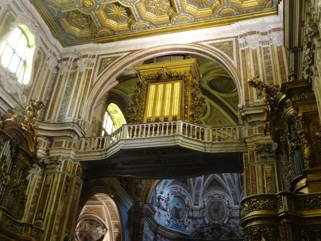 Inside the Basilica Santuario Carmine Maggiore (San Carmine) in Naples, Italy