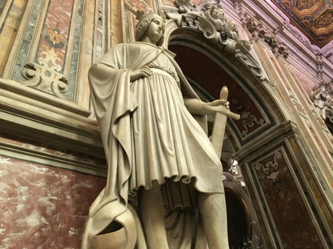 Conradin's statue in the church of San Carmine in Naples, Italy