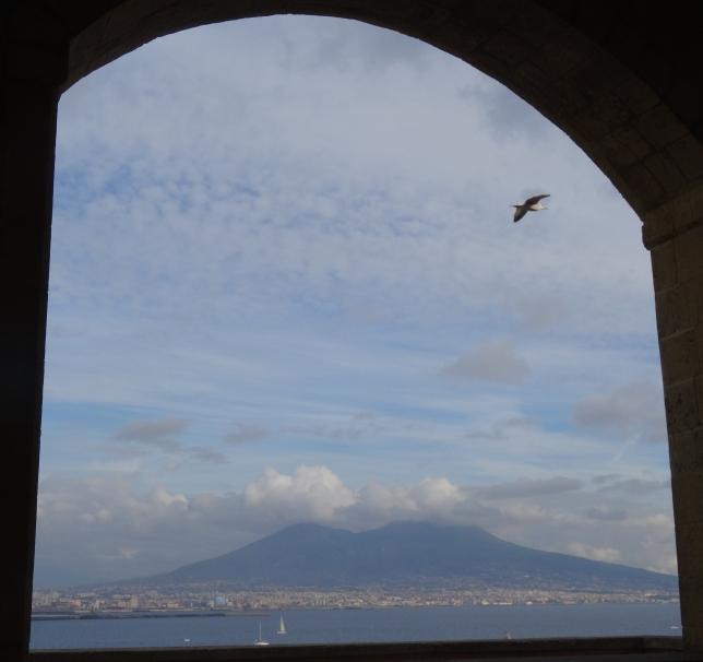 Vesuvius from the Castell dell-Ovo