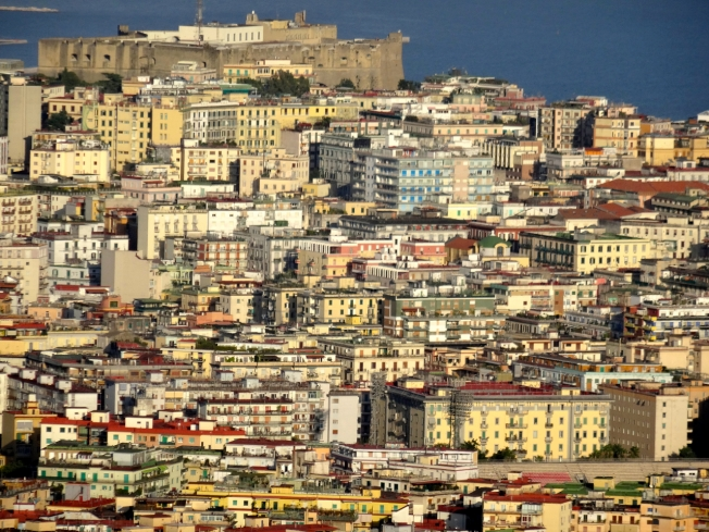 View over the city of Naples, Italy