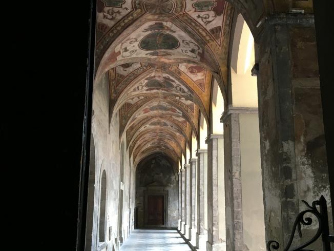 Basilica Santuario Carmine Maggiore in Naples Italy