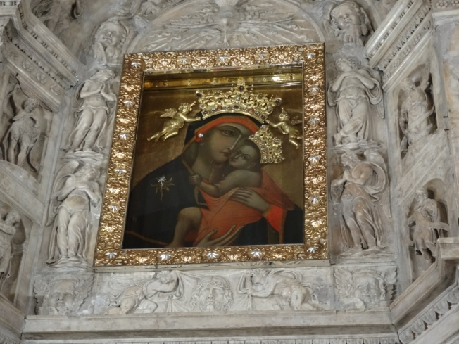 'The Brown Madonna' in the church of Santa Maria del Carmine in Naples, Italy