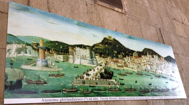 How Naples, Italy would have looked from the sea 80 years after the rule of Joanna I