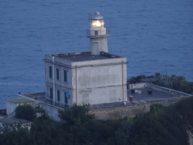 The light at Capo Miseno, Bácoli. The lighthouse was bombed in WWII and rebuilt in 1954