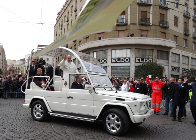 Pope's visit to Naples, Italy