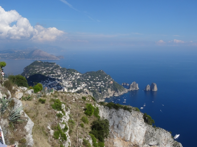View over the tip of Capri to the Sorrentine Peninsular - in prehistoric times the link was physical