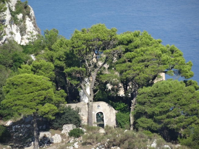The Eremo di Santa Maria a Cetrella on the slopes of Monte Solaro on the island of Capri