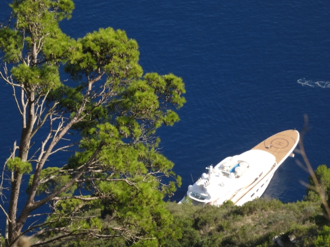 Who knows who doing who knows what off the island of Capri in Italy