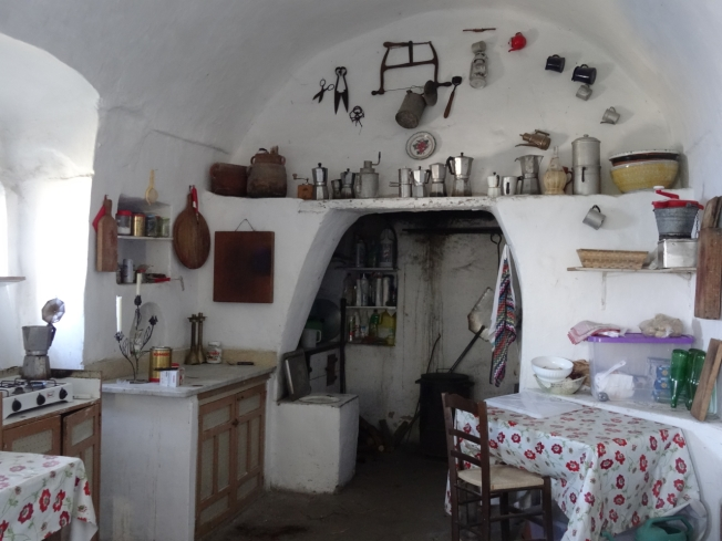 The kitchen to the side of the Chiesa di Santa Maria a Cetrella on Capri