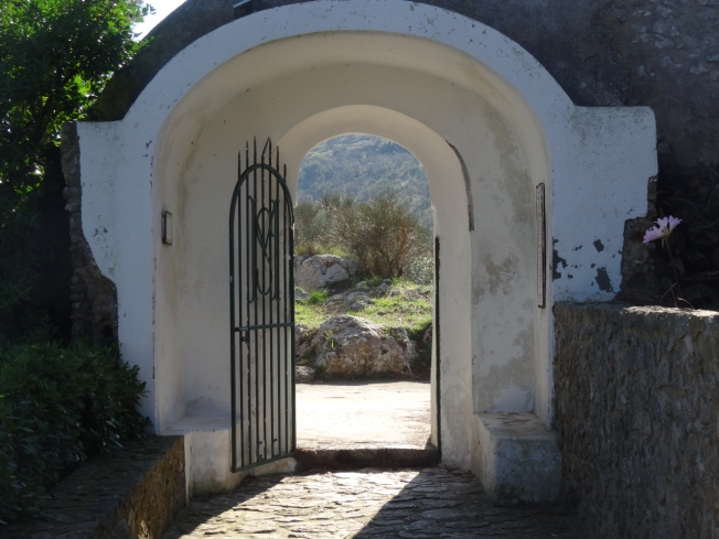The gates to the Church of Santa Maria a Cetrella on the island of Capri