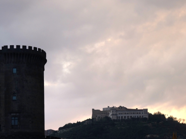Darkness descending: Maschio Angioino, Castel Sant'Elmo and the Certosa di San Martino in Naples, Italy