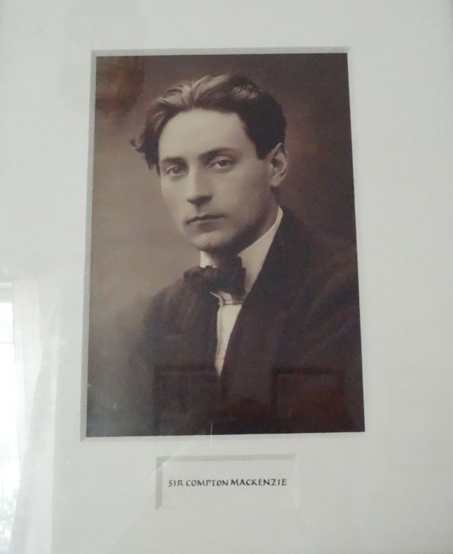 Photograph in Casa Mackenzie of the Scottish writer, Sir Compton Mackenzie, who owned the house and developed its gardens over a two year period (1918 - 1920)