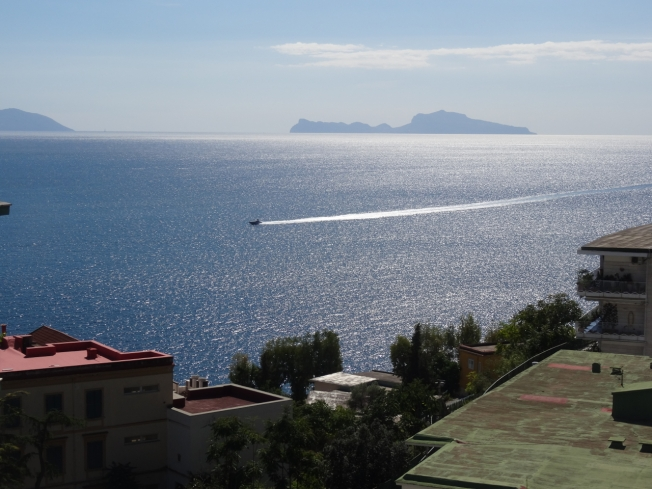 The island of Capri, viewed from Naples