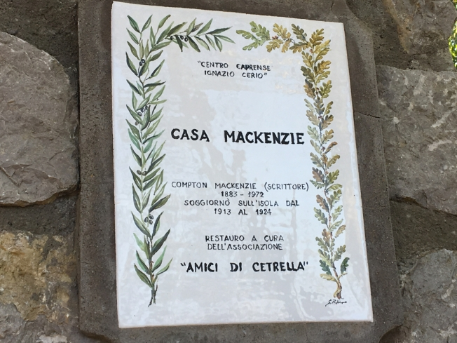 The house of Scottish writer, Compton Mackenzie, who lived on the island of Capri for 11 years.