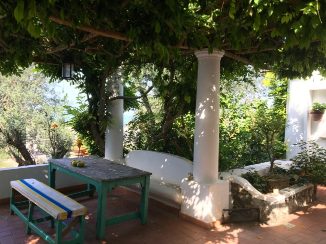A private patio in Anacapri