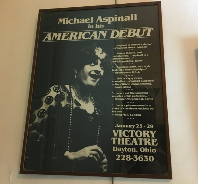 Poster of one of the parody shows put on by Michael Aspinall
