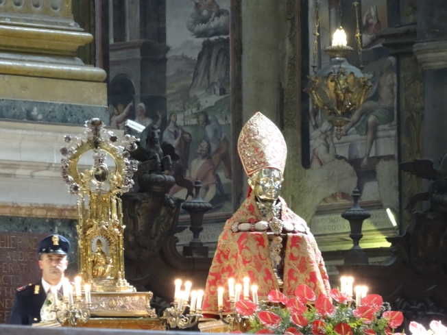 San Gennaro in the Duomo in Naples, Italy on 19 September 2016