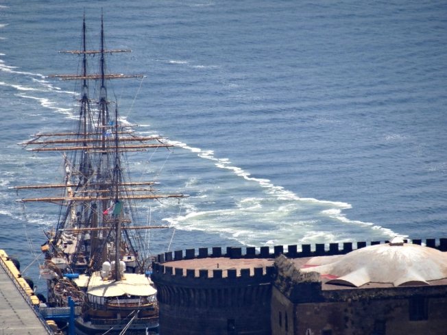 The Amerigo Vespucci in Napoli