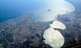 Gulf of Taranto - (Image published on ENEA paper on EU project launch of lagoon remediation in Southern Italy)