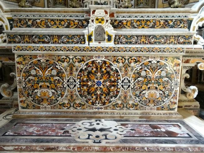 The altar in 'Il capellone di San Cataldo' in the cathedral in Taranto, in Puglia, Italy
