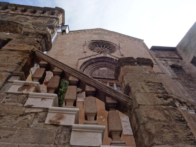 La Chiesa di San Domenico Maggiore built in the early 14th century in Taranto, in Puglia, Italy