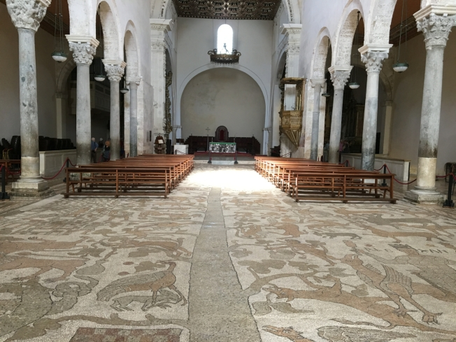 The Tree of Life mosaic, by the monk Pantaleone, on the floor of the cathedral in Otranto, Puglia