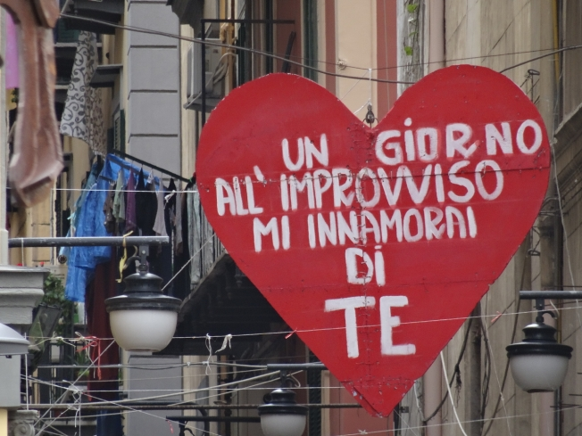 "The words Napoli fans sing to their football team - ""One day, all of a sudden, I fell in love with you"""