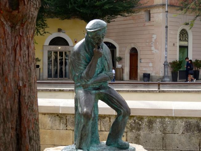 In the square in Matera in Basilicata in Italy