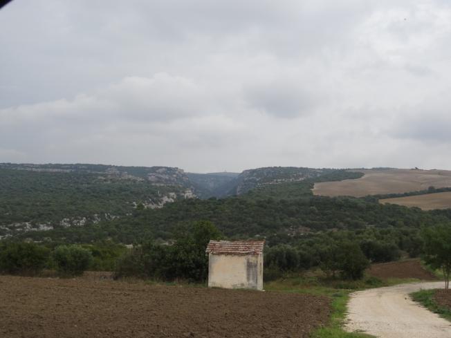 Basilicata near Matera in Italy
