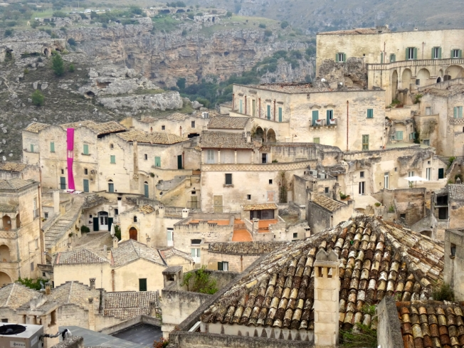 One bright banner in Matera in Basilicata