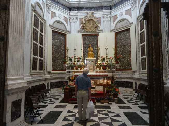 The chapel that remembers the 800 martyrs in the cathedral in Otranto, Puglia