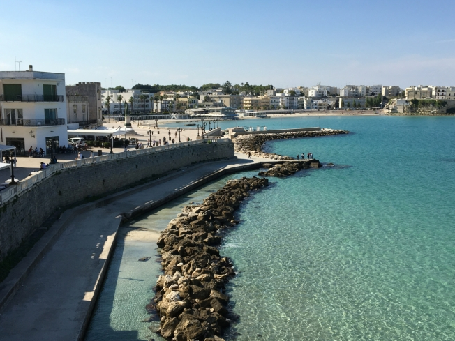 The seafront in Otranto, Puglia in Italy