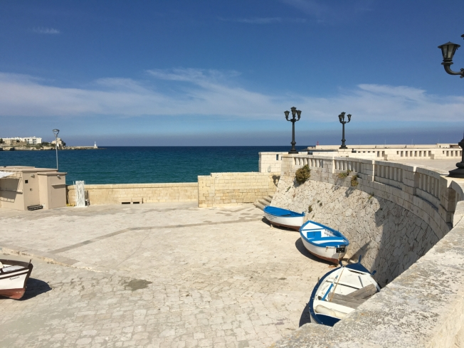 The seafront in Otranto, in Puglia, Italy