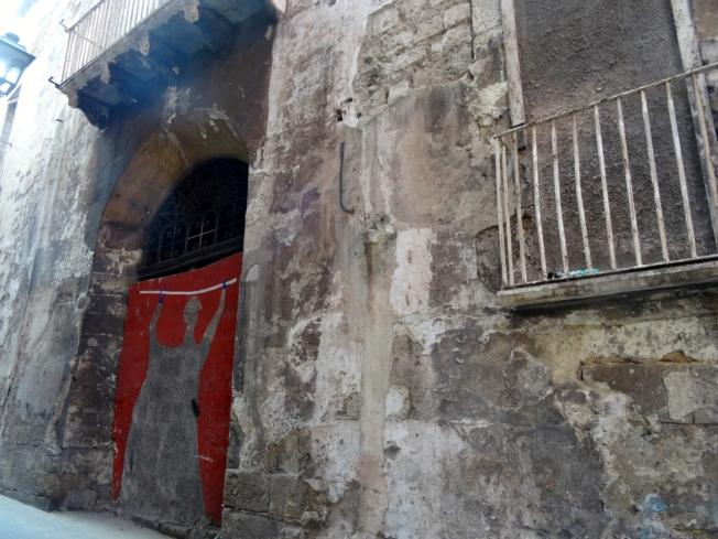 The old city in Taranto, in Puglia, Italy